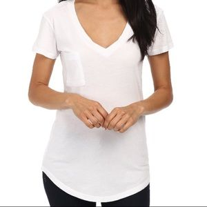 LAmade v-neck tee round hem White Small